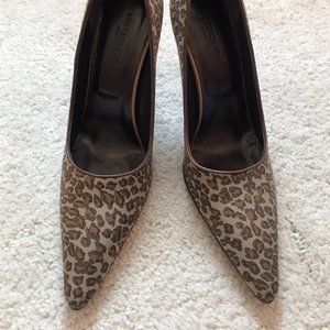 Bottega Veneta Satin Animal Print Pumps Leopard